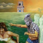 Badespaß - Öl/Eitempera/Lw 80 x 130 cm 2011