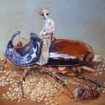 Daddy kommt bald zurück - Öl/Malplatte 40 x 50 cm 2010