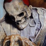Hase und Tod - Öl/Lw 100 x 60 cm 2010