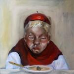 Ich esse meine Suppe nicht - Öl/Lw 50 x 50 cm 2007
