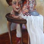 Drei Joker - Öl/Lw 120 x 80 cm 2011