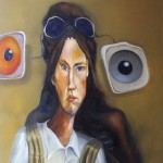 Keine Angst vorm schwarzen Mann - Öl/Eitempera/Lw 80 x 70 cm 2011