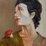 Zwei Frauen mit Pilz - Öl/Eitempera/Lw 50 x 40 cm 2011