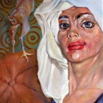 Witwe Bolte - Öl/Lw 100 x 80 cm 2007