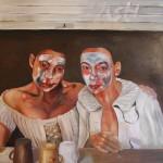 Spiel um Haus und Hof - Öl/Lw 60 x 50 cm 2012